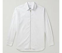 Cotton Zip-Up Shirt