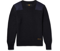 Commander Panelled Ribbed Wool Sweater