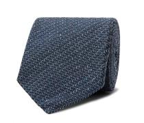 8cm Mélange Silk And Wool-blend Tie
