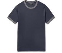 Slim-fit Contrast-trimmed Jersey T-shirt