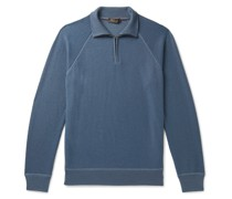 Ribbed Cashmere and Silk-Blend Half-Zip Sweater