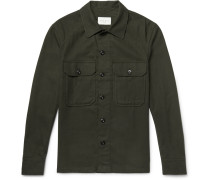 Slim-fit Cotton-flannel Overshirt