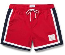 Mid-length Stripe-trimmed Swim Shorts