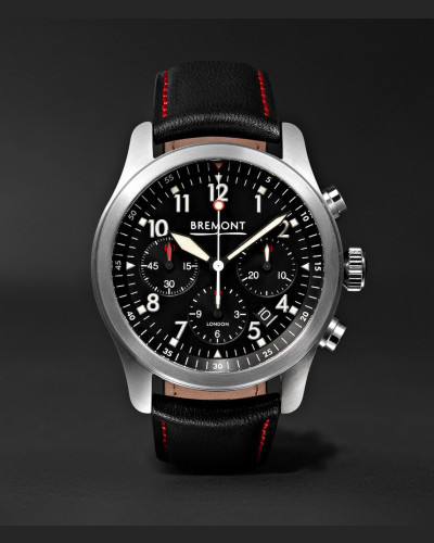 Alt1-p/bk Automatic Chronograph 43mm Stainless Steel And Leather Watch