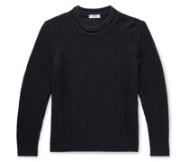 Ribbed Linen and Silk-Blend Sweater
