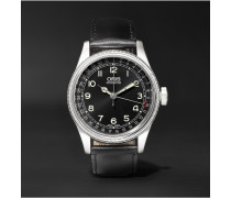 Big Crown Original Pointer Date Stainless Steel And Leather Watch