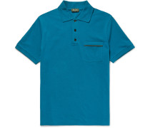Slim-fit Contrast-tipped Stretch-cotton Piqué Polo Shirt