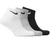 Three-pack Cushioned Cotton-blend Socks