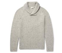 Shawl-collar Wool-blend Sweater