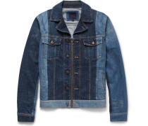 Slim-fit Two-tone Denim Jacket