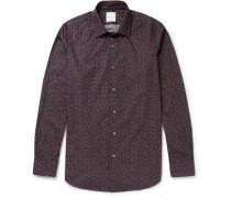 Slim-fit Strawberry-print Cotton Shirt