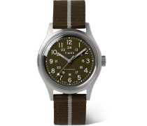 MK1 Hand-Wound 36mm Stainless Steel and Striped NATO Watch