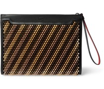 Skypouch Studded Full-Grain Leather Pouch