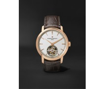Traditionnelle Tourbillon Automatic 41mm 18-Karat Pink Gold and Alligator Watch, Ref. No. 6000T/000R-B346