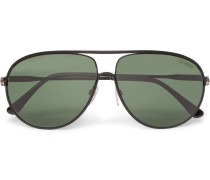 Cliff Aviator-style Metal Polarised Sunglasses