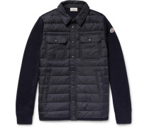 Panelled Virgin Wool-blend And Quilted Shell Down Jacket