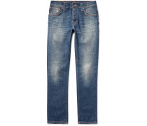 Grim Tim Slim-fit Selvedge Stretch-denim Jeans
