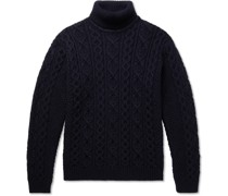 Bert Cable-Knit Wool Rollneck Sweater
