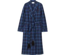 York Checked Wool Robe