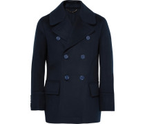 Double-breasted Virgin Wool Peacoat