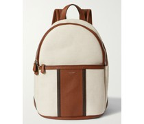 Canvas and Full-Grain Leather Backpack