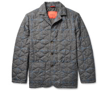 Slim-fit Water-resistant Prince Of Wales Checked Shell Jacket