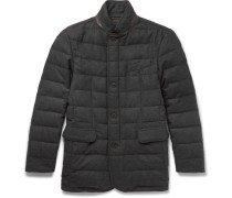 Quilted Wool-blend Down Jacket