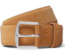 3.5cm Tan Suede Belt