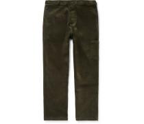 Judo Wide-Leg Cotton-Corduroy Trousers