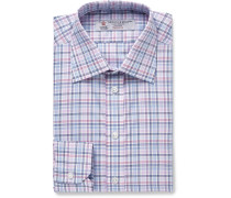 Slim-fit Checked Cotton Shirt