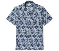 Slam Camp-collar Printed Cotton Shirt