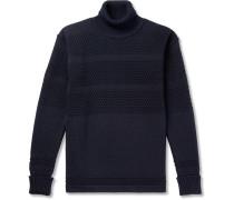 Fisherman Panelled Virgin Wool Rollneck Sweater