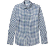 Ted Slim-fit Penny-collar Gingham Cotton Shirt