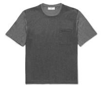 Cotton Jersey-panelled Wool T-shirt