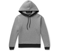 Striped Cotton-Blend Hoodie