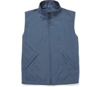Reversible Shell And Woven Silk And Cashmere-blend Gilet