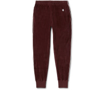 + Champion Contrast-tipped Cotton-velour Track Pants