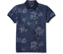 Slim-fit Floral Cotton-piqué Polo Shirt