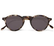 Capri Round-frame Tortoiseshell Acetate Sunglasses