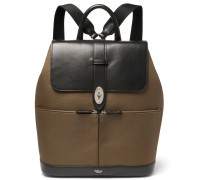 Reston Leather And Canvas Backpack