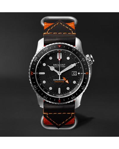 Endurance Limited Edition Automatic Gmt 43mm Titanium Watch - Black