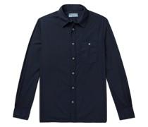 Alex Garment-Dyed Cotton-Poplin Shirt
