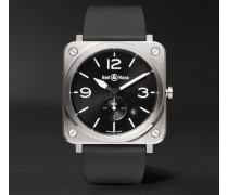 Br S 39mm Steel And Rubber Watch
