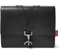 Studded Full-grain Leather Messenger Bag