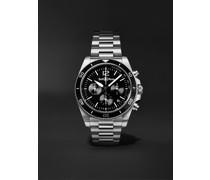 BR V3-94 Black Steel Automatic Chronograph 43mm Steel Watch, Ref. No. BRV394-BL-ST/SST