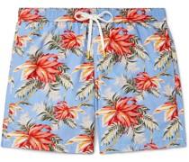Slim-Fit Mid-Length Printed Swim Shorts