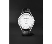 Clifton Baumatic Automatic Chronometer 40mm Stainless Steel and Alligator Watch, Ref. No. M0A10518