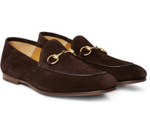 Horsebit Suede Loafers