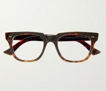1381 Square-Frame Tortoiseshell Acetate Blue Light-Blocking Optical Glasses