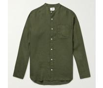 Justin Grandad-Collar Linen Shirt